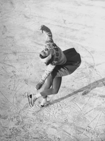 Barbara Ann Scott Making School Figures at the World Figure Skating Contest