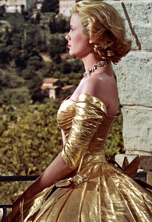 Grace Kelly in Edith Head golden gown