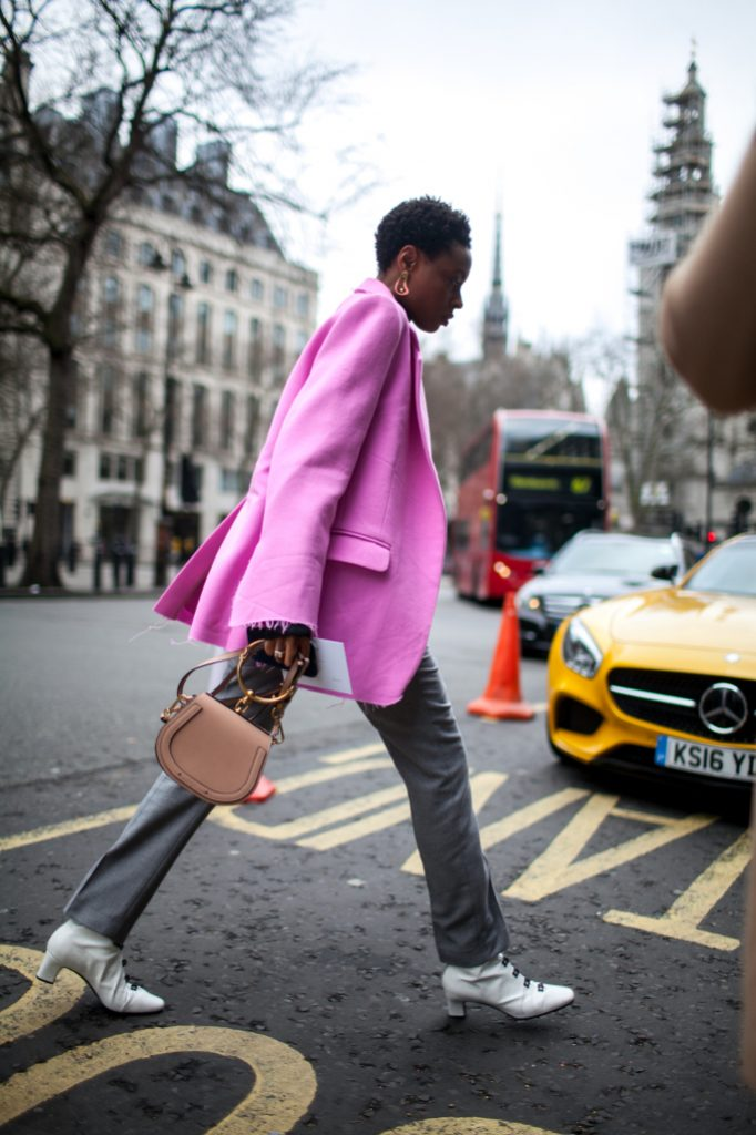 Street style at London Fashion Week fall 2017