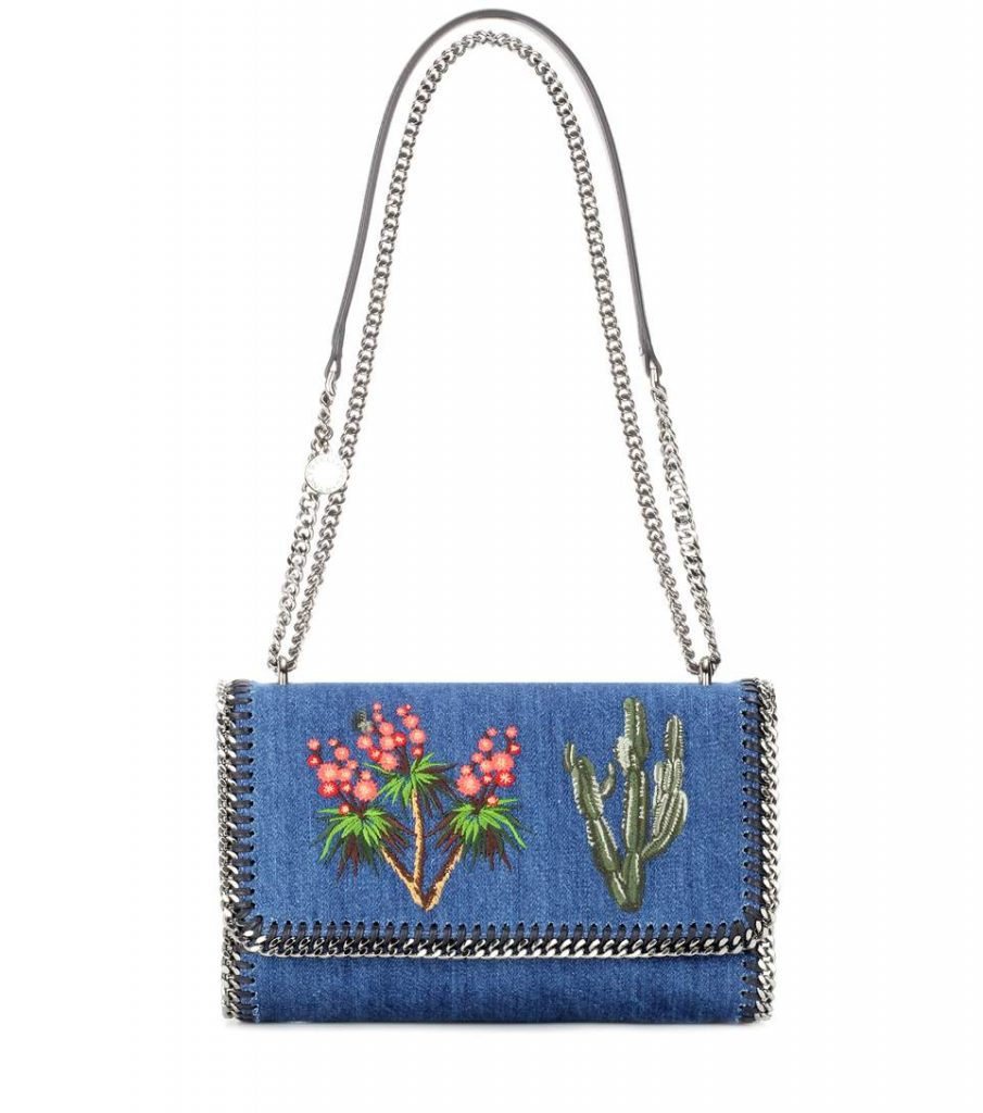 Stella McCartney Falabella in denim con ricami