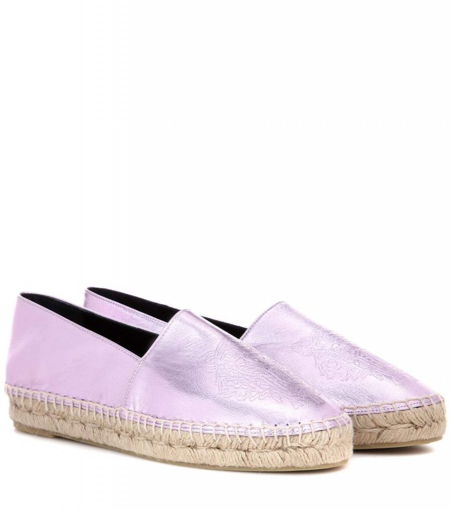 KENZO Espadrillas in pelle metallizzata urban cool