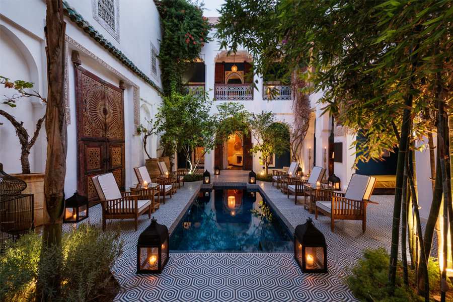 Riad les yeux bleus hotel di charme in marocco charme for Bab hotel marrakech piscine