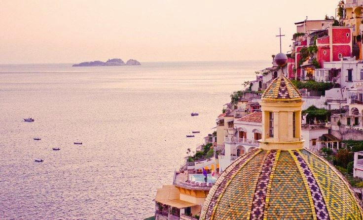 sunset positano sunday