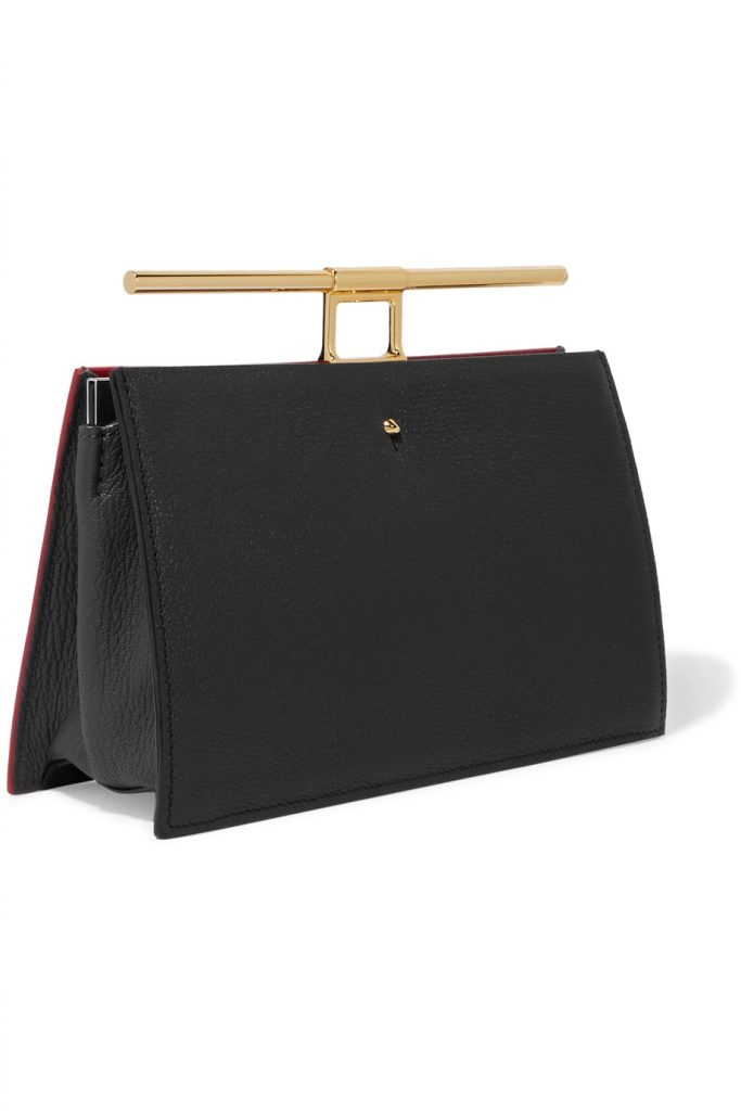 Clutch Chateau mini in pelle nera e rossa di The Volon, una delle it bag più instagrammate del momento.