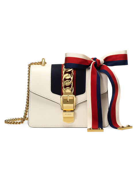 Mini tracolla Sylvie in pelle di Gucci
