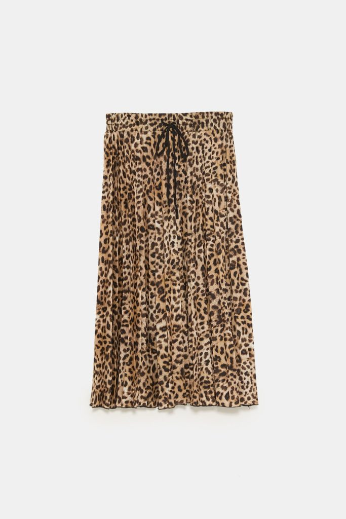 Zara gonna plissettata con stampa animalier
