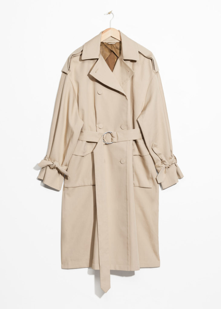 & Other Stories trench impermeabile oversize