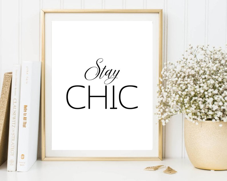 Stay Chic Etsy