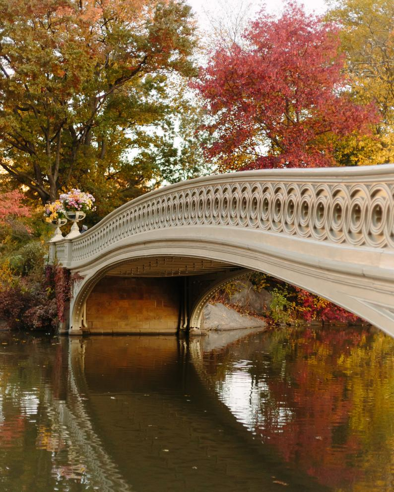 Bow Bridge in Autumn // Central Park, NYC Photo di JacquelineClairPhoto